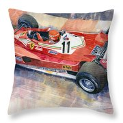 Ferrari 312 T2 Niki Lauda 1977 Monaco Gp Throw Pillow