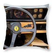 Ferrari 3.2 Mondial Cabriolet Interior Throw Pillow