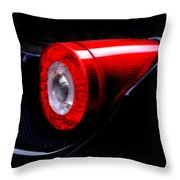 Ferrari 458 Italia Tail Light Throw Pillow by Mark Rogan