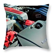 Ferrari 599 Gtb Engine Throw Pillow