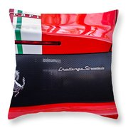 Ferrari Challenge Stradale Emblem -0125c Throw Pillow