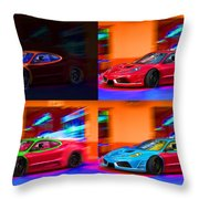 Ferrari Collage Throw Pillow