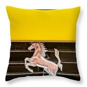 Ferrari Dino Grille Emblem -0750c Throw Pillow