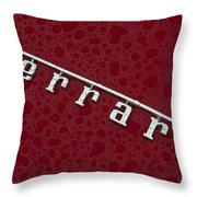 Ferrari Emblem In The Rain Throw Pillow