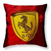 Ferrari Emblem Throw Pillow