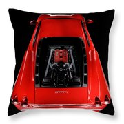 Ferrari F430 Engine Throw Pillow