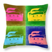 Ferrari Front Pop Art 3 Throw Pillow by Naxart Studio