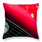 Ferrari Grille Emblem - Headlight Throw Pillow