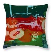 Ferrari Laguna Seca Racing Throw Pillow