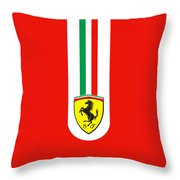 Ferrari Phone Case Throw Pillow by Mark Rogan