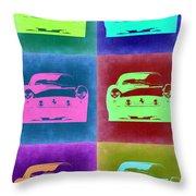 Ferrari Pop Art 2 Throw Pillow