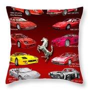 Ferrari Poster Art Throw Pillow by Jack Pumphrey