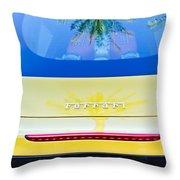 Ferrari Rear Emblem -0062c Throw Pillow