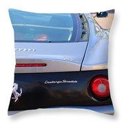 Ferrari Rear Emblem - Taillights -0089c Throw Pillow
