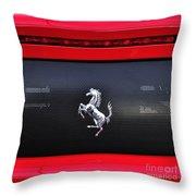 Ferrari - Rear Grill And Stallion Badge Throw Pillow