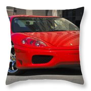 Ferrari Red Throw Pillow