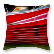 Ferrari Testarossa Red Throw Pillow