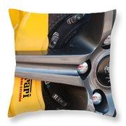 Ferrari Wheel - Brake Emblem Throw Pillow