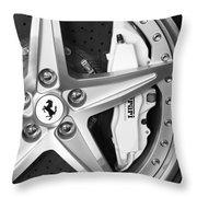 Ferrari Wheel Emblem Throw Pillow
