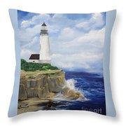 Ferrels Lighthouse Throw Pillow
