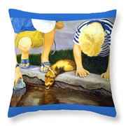 Ferret And Friends Throw Pillow