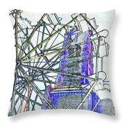 Ferris Wheel 2 Throw Pillow