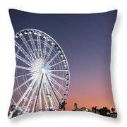 Ferris Wheel 21 Throw Pillow
