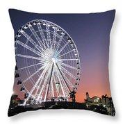 Ferris Wheel 23 Throw Pillow