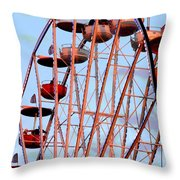 Ferris Wheel At Sunset Throw Pillow