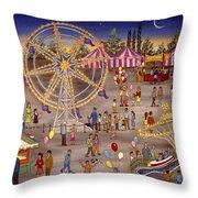 Ferris Wheel At The Carnival Throw Pillow