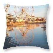 Ferris Wheel Jersey Shore 2 Throw Pillow