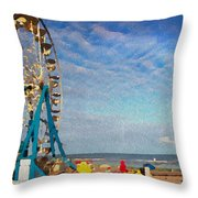 Ferris Wheel On A Gorgeous Day Throw Pillow