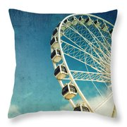Ferris Wheel Retro Throw Pillow