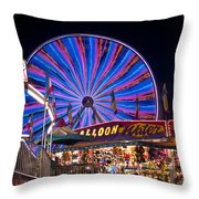 Ferris Wheel Rides And Games Throw Pillow