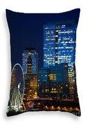 Ferris Wheel Seattle Harbor Throw Pillow
