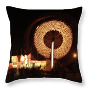 Ferris Wheel Spin Throw Pillow