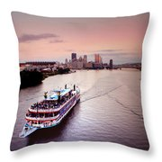 Ferry Boat At The Point In Pittsburgh Pa Throw Pillow