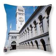 Ferry Building Throw Pillow
