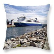 Ferry From North Sydney-ns To Argentia-nl Throw Pillow