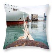Ferry Mooring Throw Pillow