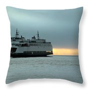 Ferry Sealth In The Fog Throw Pillow