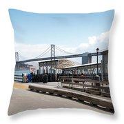 Ferry Terminal Throw Pillow
