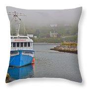 Ferryland Harbour-nl Throw Pillow