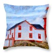 Ferryland Lighthouse In Newfoundland Throw Pillow