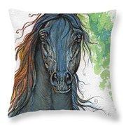 Ferryt Polish Black Arabian Horse Throw Pillow