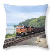Ferryville Train Throw Pillow
