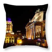 Festival Of Lights Gendarmenmarkt Berlin Throw Pillow