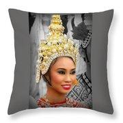 Festival Queen Throw Pillow