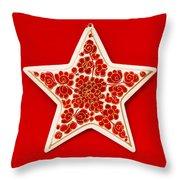 Festive Star Throw Pillow