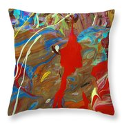 Fete All Night  Throw Pillow